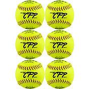"""Dudley 12"""" NFHS/ASA CFP Cork Fastpitch Softballs - 6 Pack"""