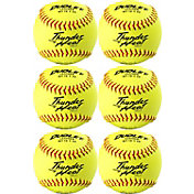 "Dudley 12"" NFHS/ASA Thunder Heat Fastpitch Softballs - 6 Pack"