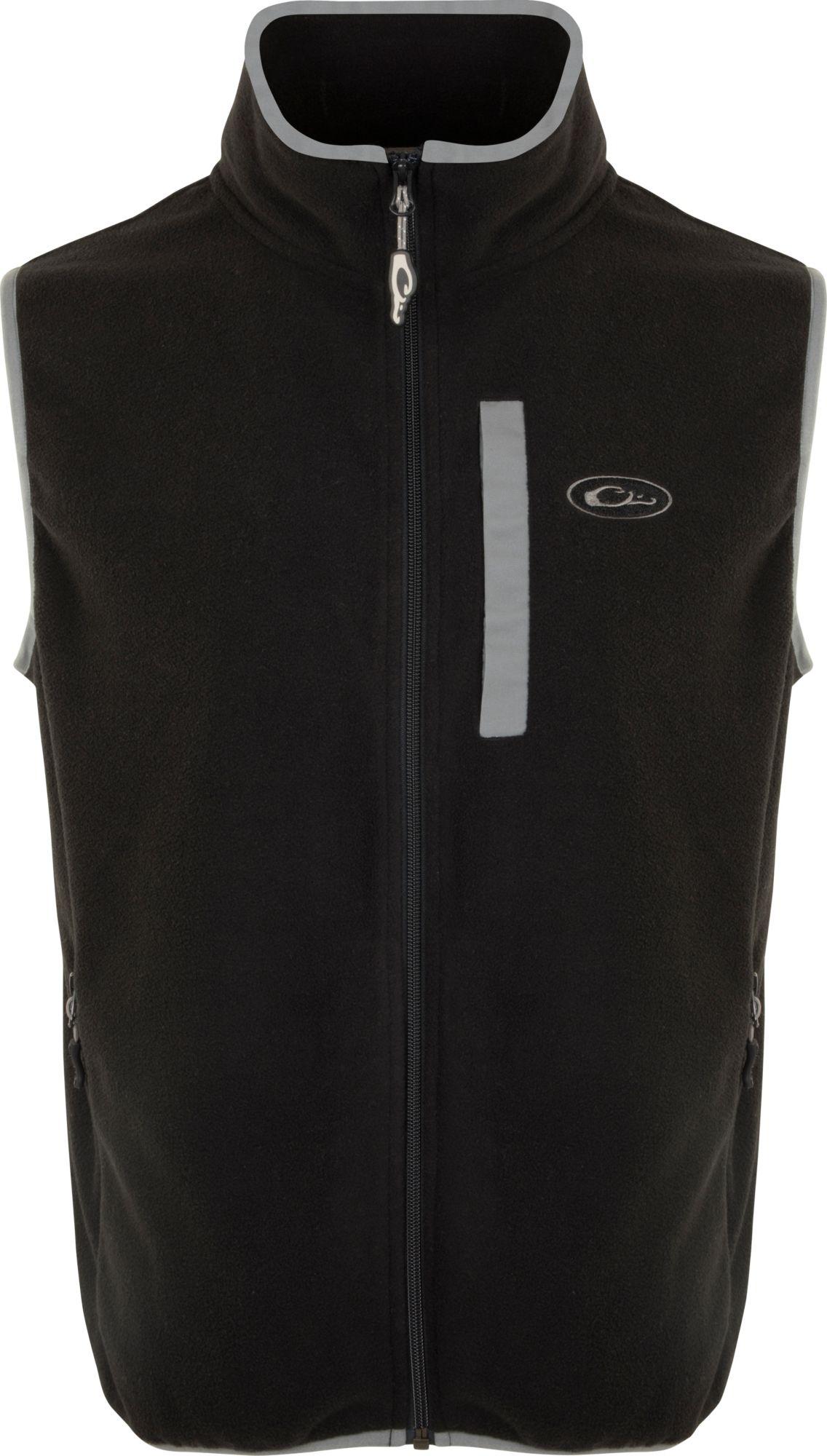 Drake Waterfowl Men's Camp Fleece Vest, Size: Small, Black thumbnail