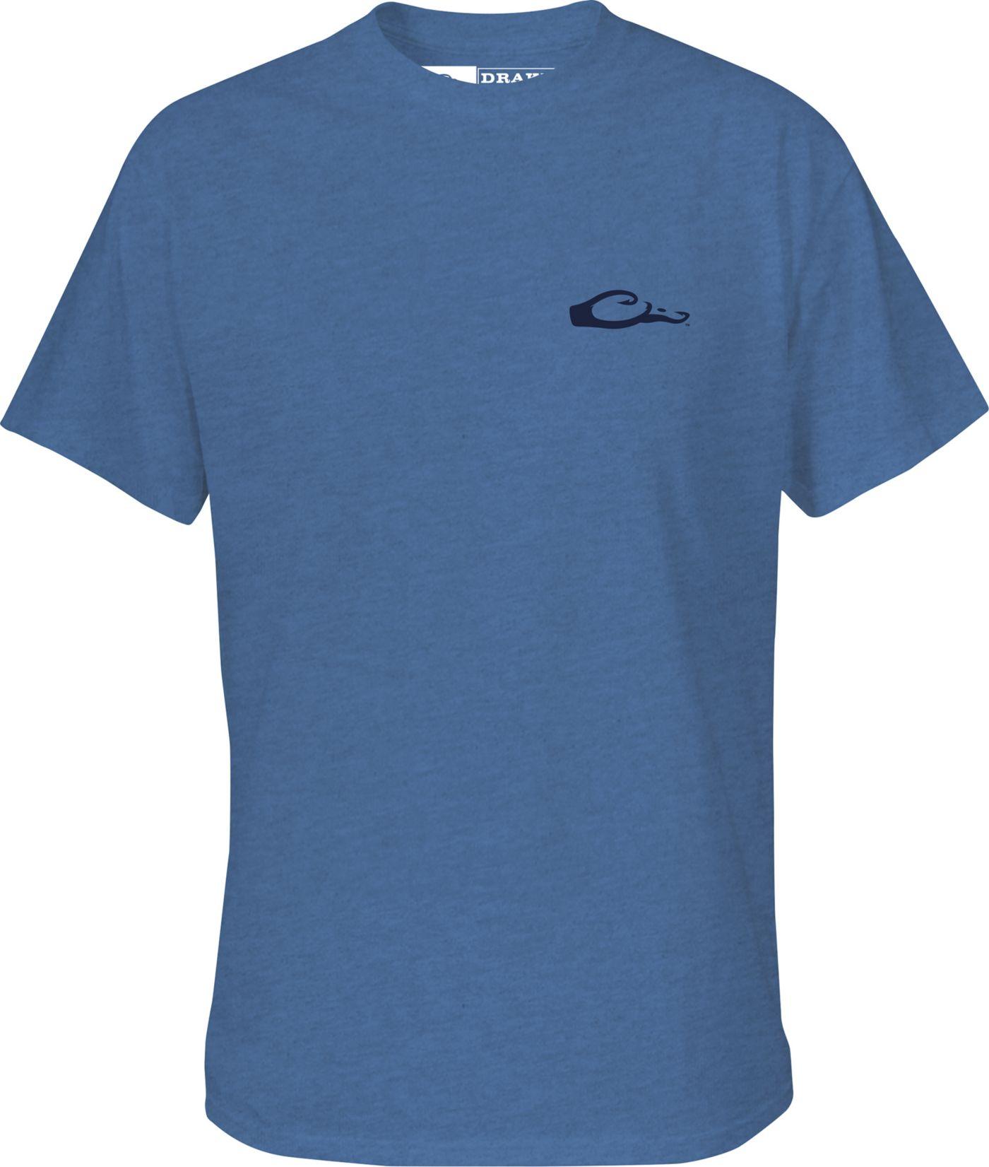Drake Waterfowl Men's Fishing Flag T-Shirt