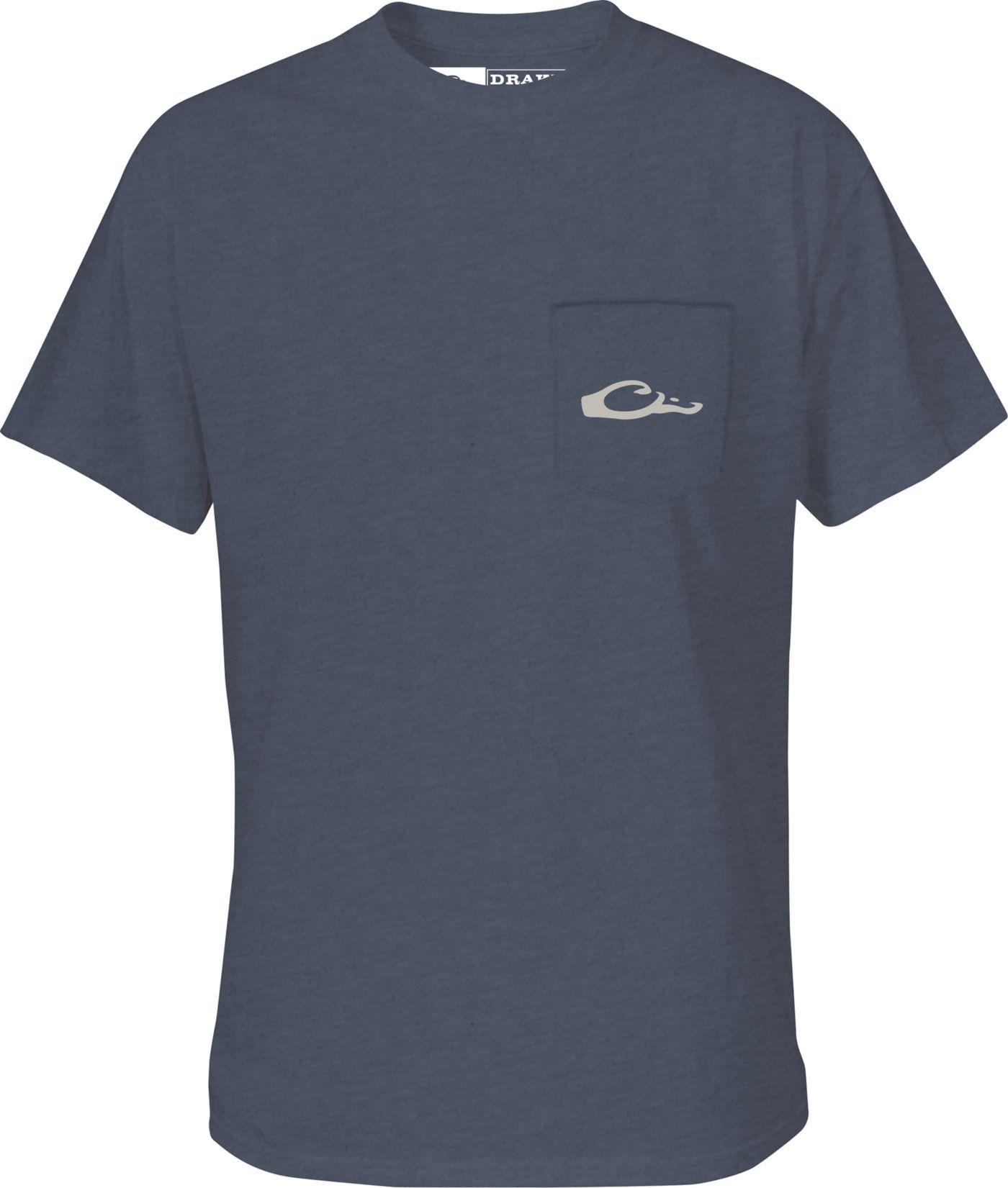 Drake Waterfowl Men's Flyway Species Map T-Shirt
