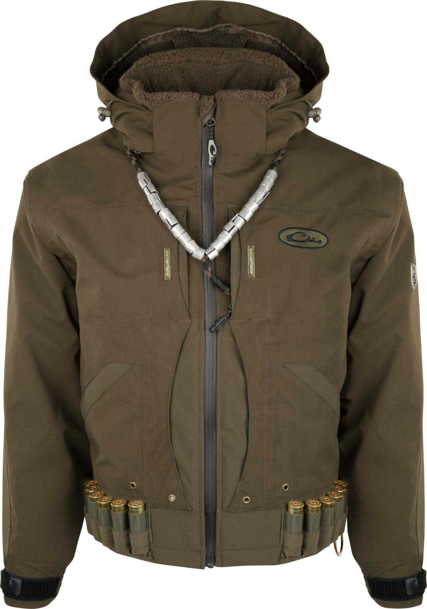 Drake Waterfowl Men's Guardian Elite Flooded Timber Shell Weight Hunting Jacket