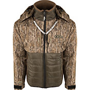Drake Waterfowl Men's Guardian Flex Double Down Eqwader Hooded Full Zip Hunting Jacket