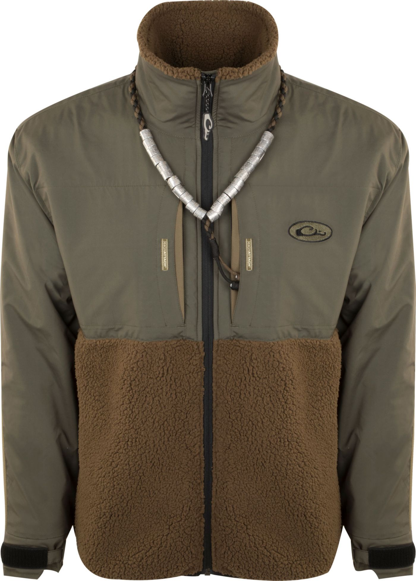 Drake Waterfowl Men's Guardian Flex Sherpa Fleece Eqwader Full Zip Hunting Jacket