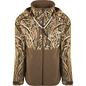 Drake Waterfowl Men's Guardian Flex Sherpa Fleece Eqwader Full Zip Hooded Hunting Jacket