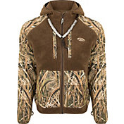 Drake Waterfowl Men's Sherpa Fleece Hybrid Liner Full Zip Hooded Hunting Jacket