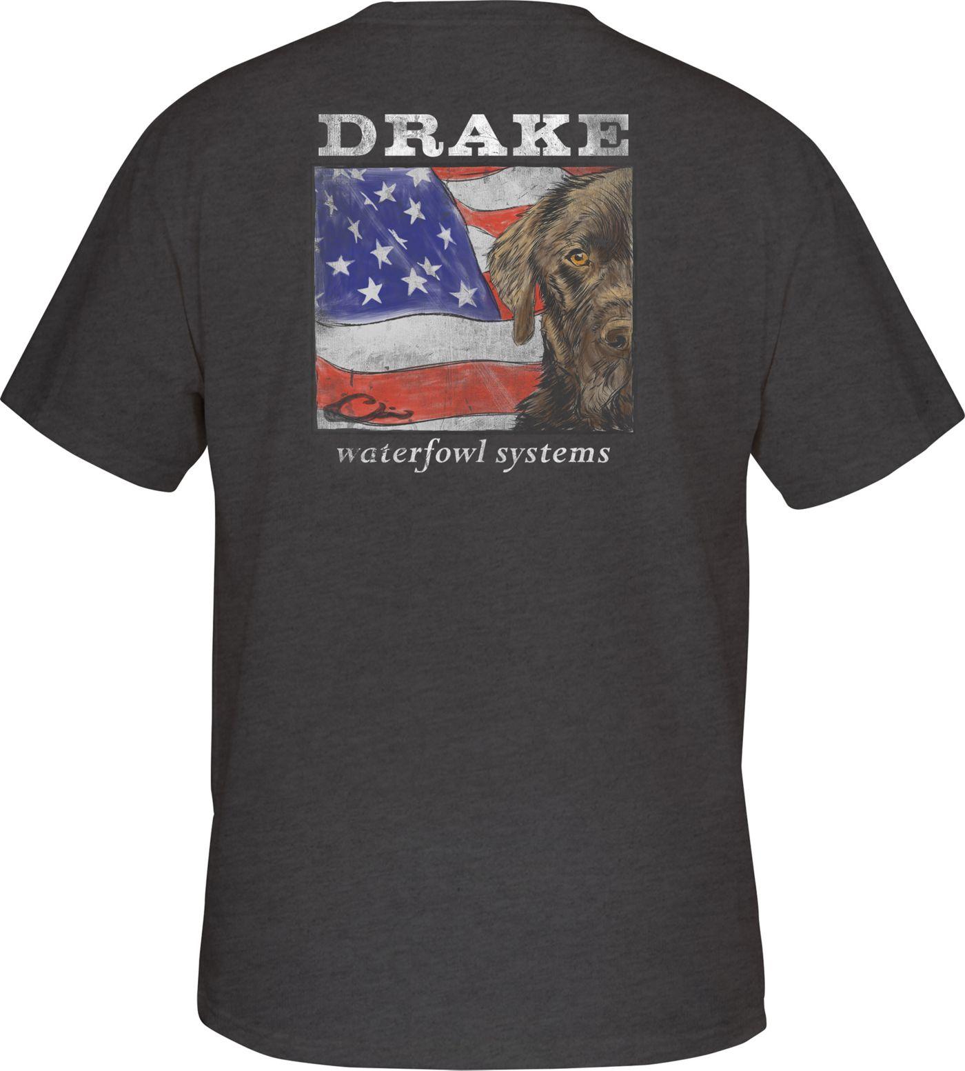 Drake Waterfowl Men's Patriotic Lab T-Shirt