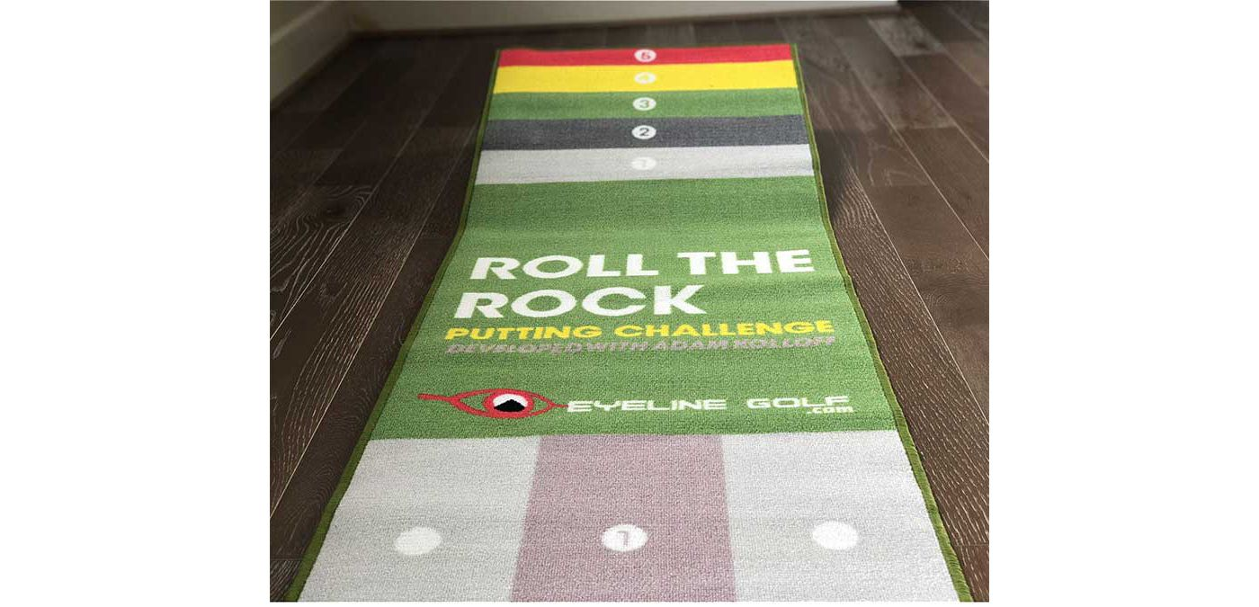 EyeLine Golf Roll the Rock Challenge Putting Mat