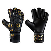 Elite Black Real Soccer Goalkeeping Gloves