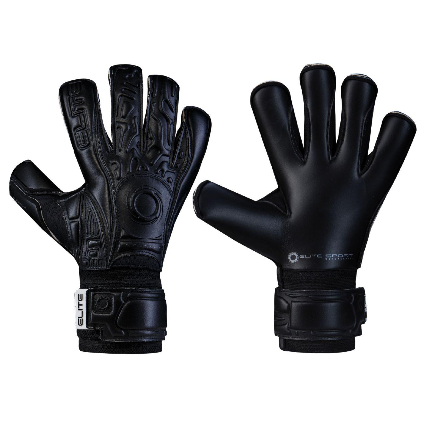 Elite Black Solo Soccer Goalkeeper Gloves