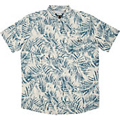 Salty Crew Men's Weathered Short Sleeve UPF Woven Button Down Shirt
