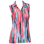 EP Pro Women's Sleeveless Watercolor Print Golf Polo