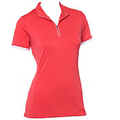 EP Pro Women's Short Sleeve Convertible Zip Collar Golf Polo