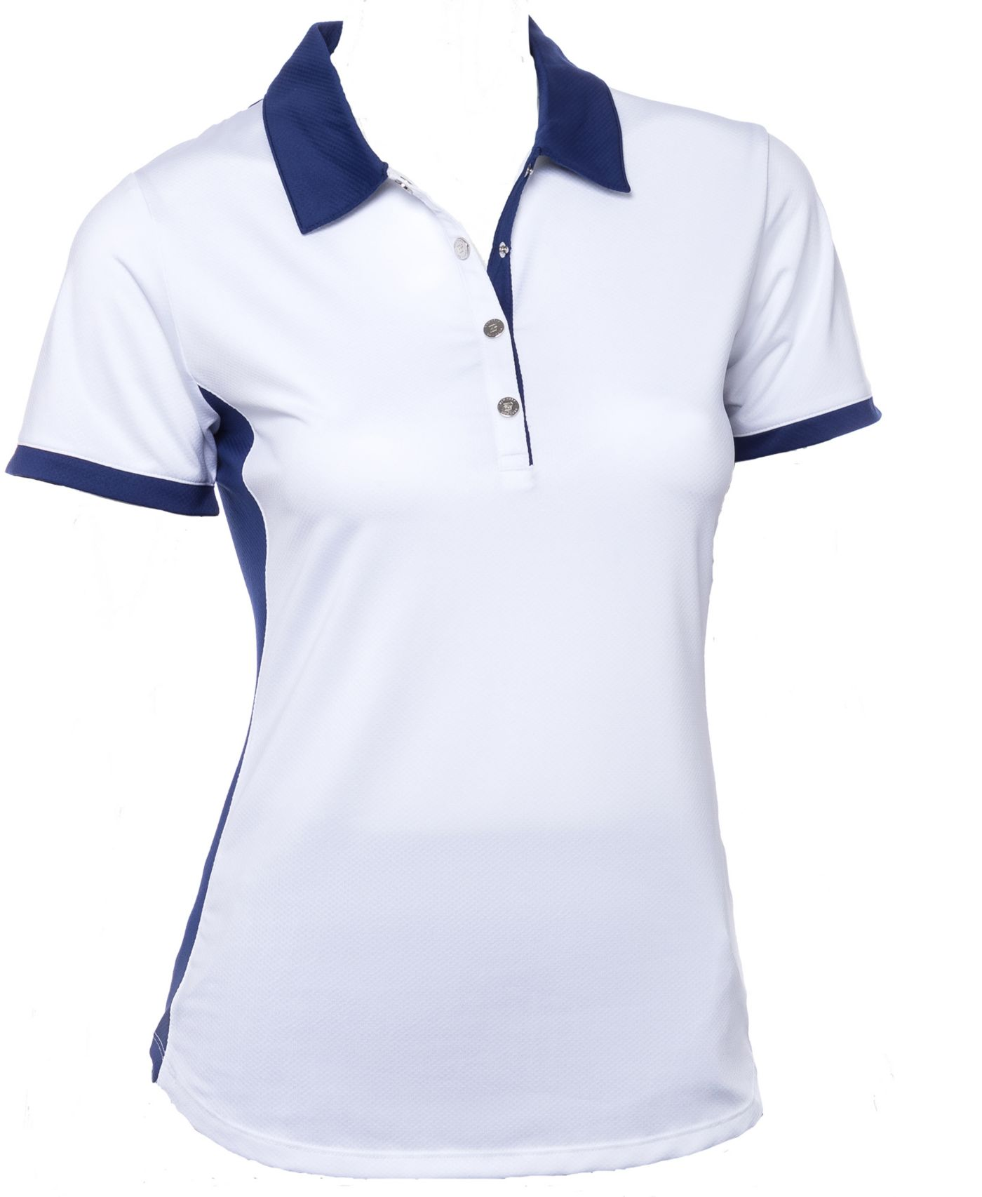 EP Pro Women's Short Sleeve Contrast Blocking Golf Polo