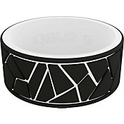 QALO Men's Strata Dale and Amy Earnhardt Black and White Silicone Ring