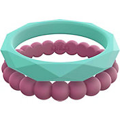 QALO Women's Stackable Silicone Ring Set