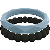 QALO Women's Silicone Stackable Ring Set