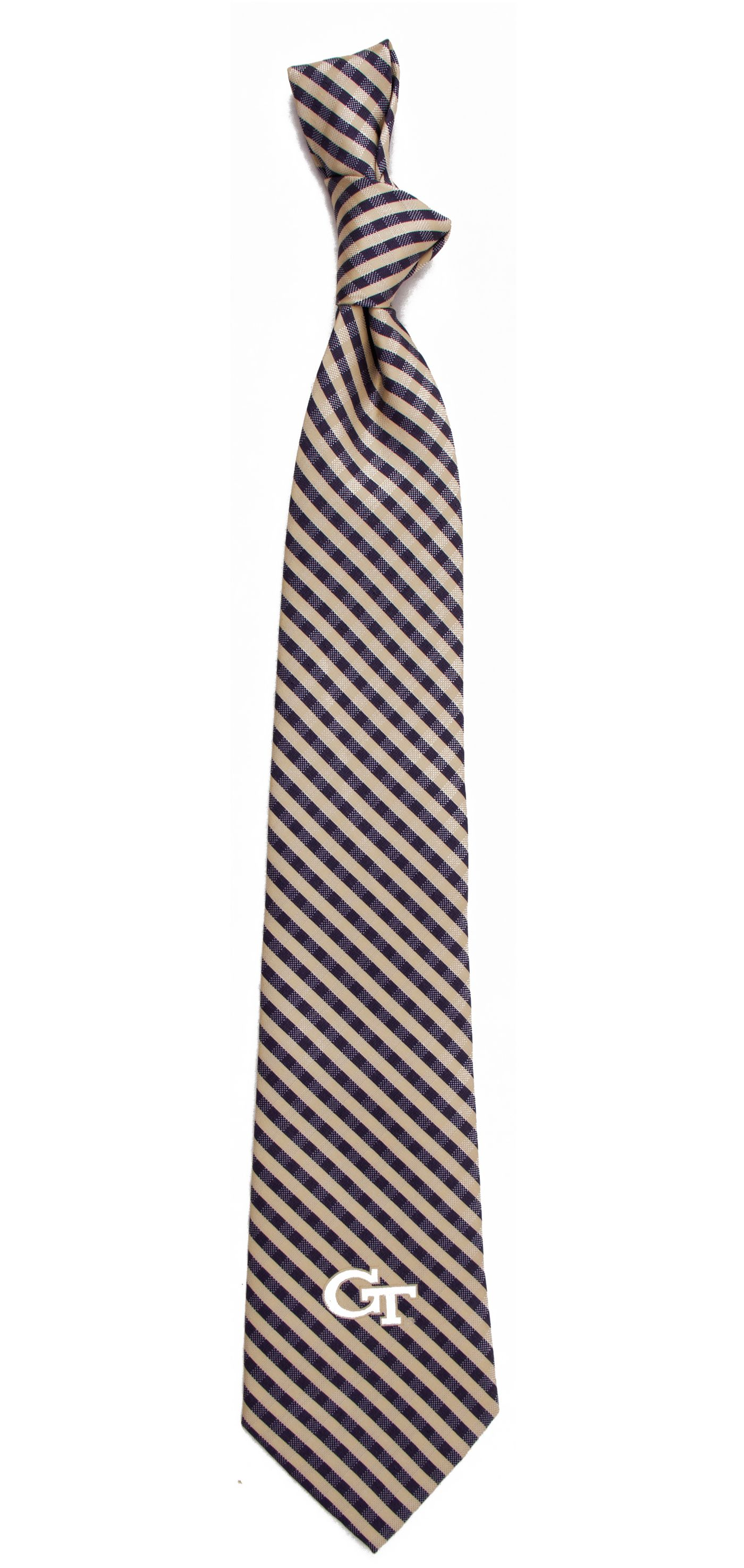 Eagles Wings Georgia Tech Yellow Jackets Gingham Necktie