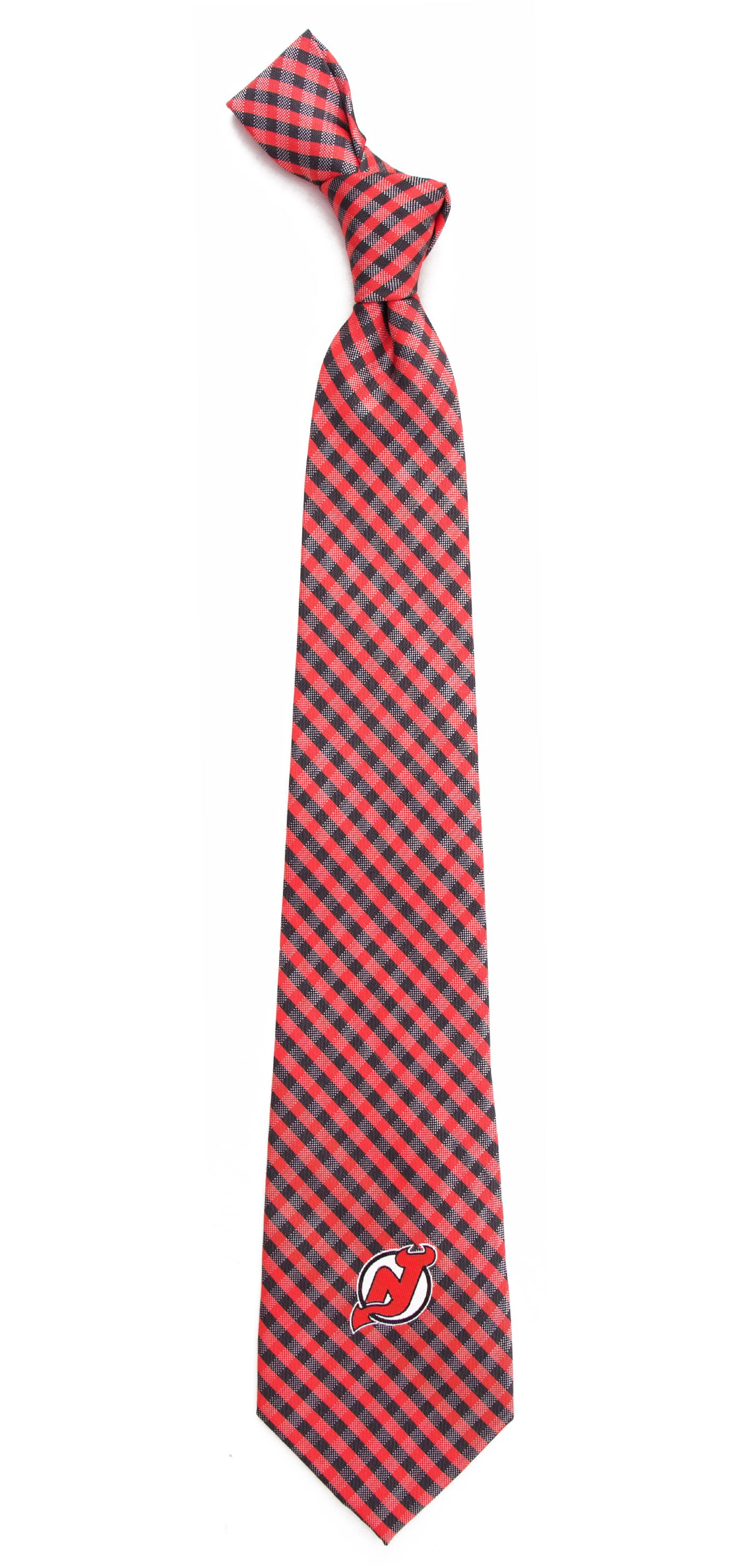 Eagles Wings New Jersey Devils Gingham Necktie