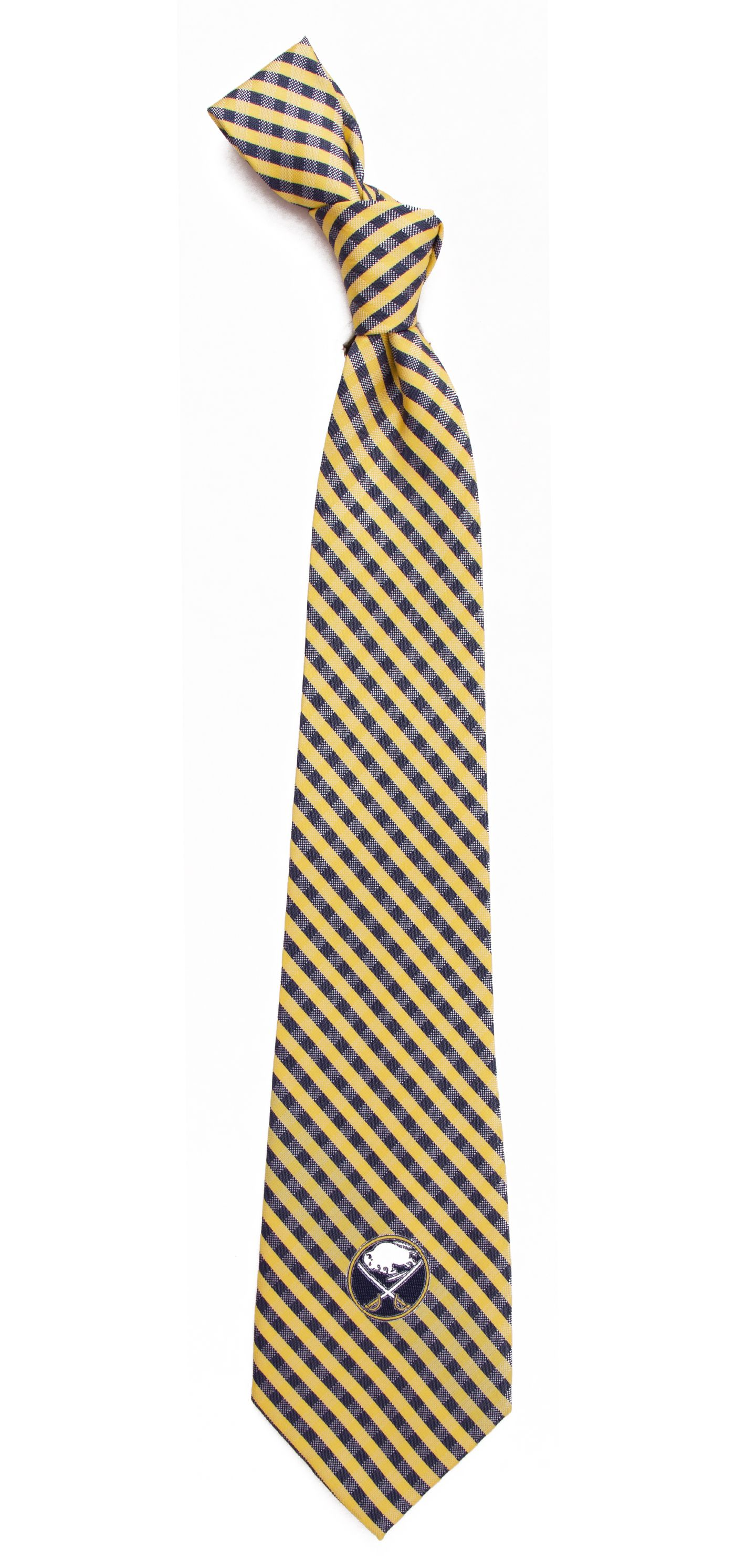 Eagles Wings Buffalo Sabres Gingham Necktie