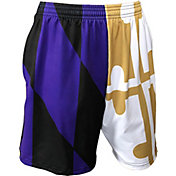 Fit 2 Win Men's Maryland Terrapins Maryland Pride Purple/Gold Flag Shorts