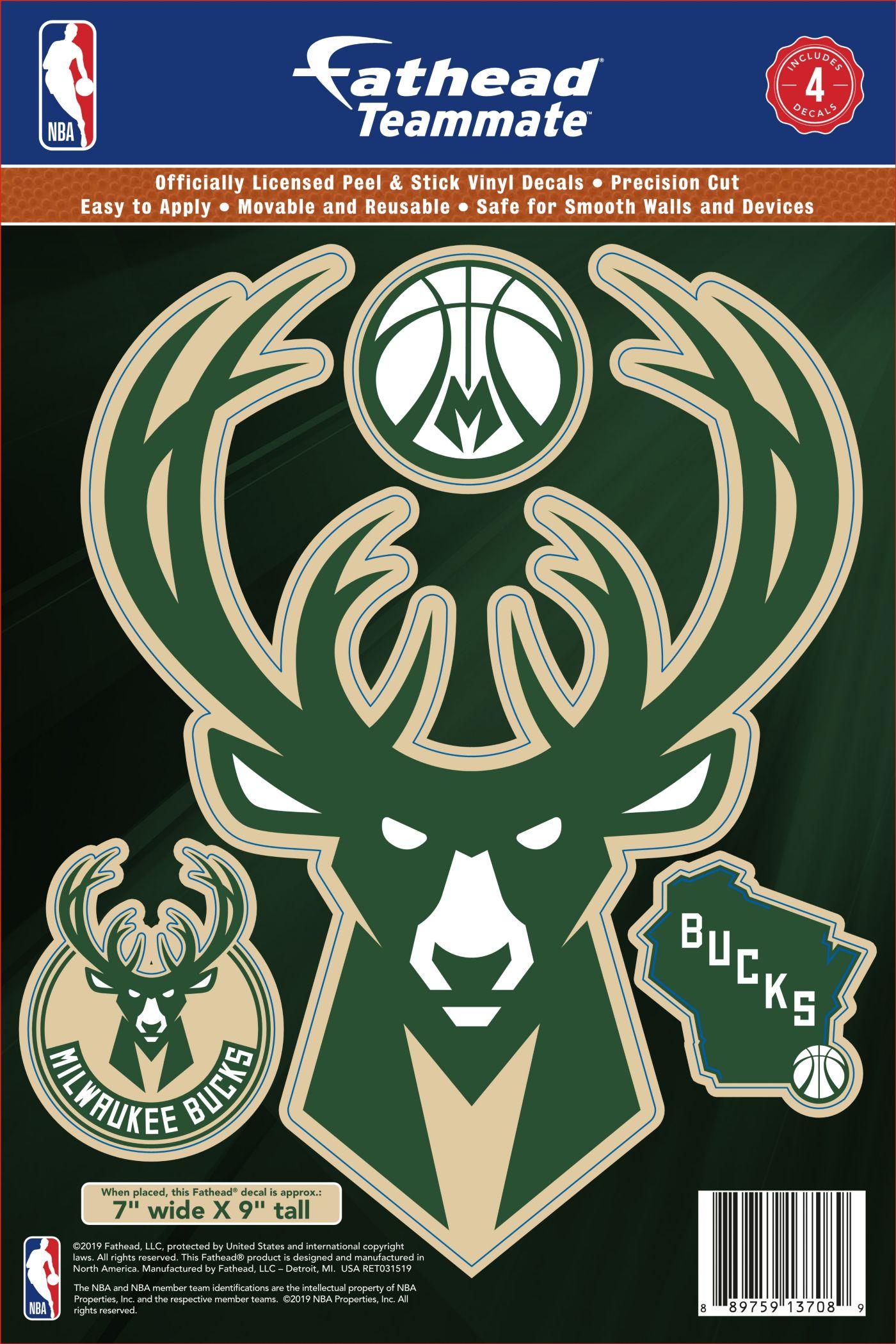 Fathead Milwaukee Bucks Logo Wall Decal