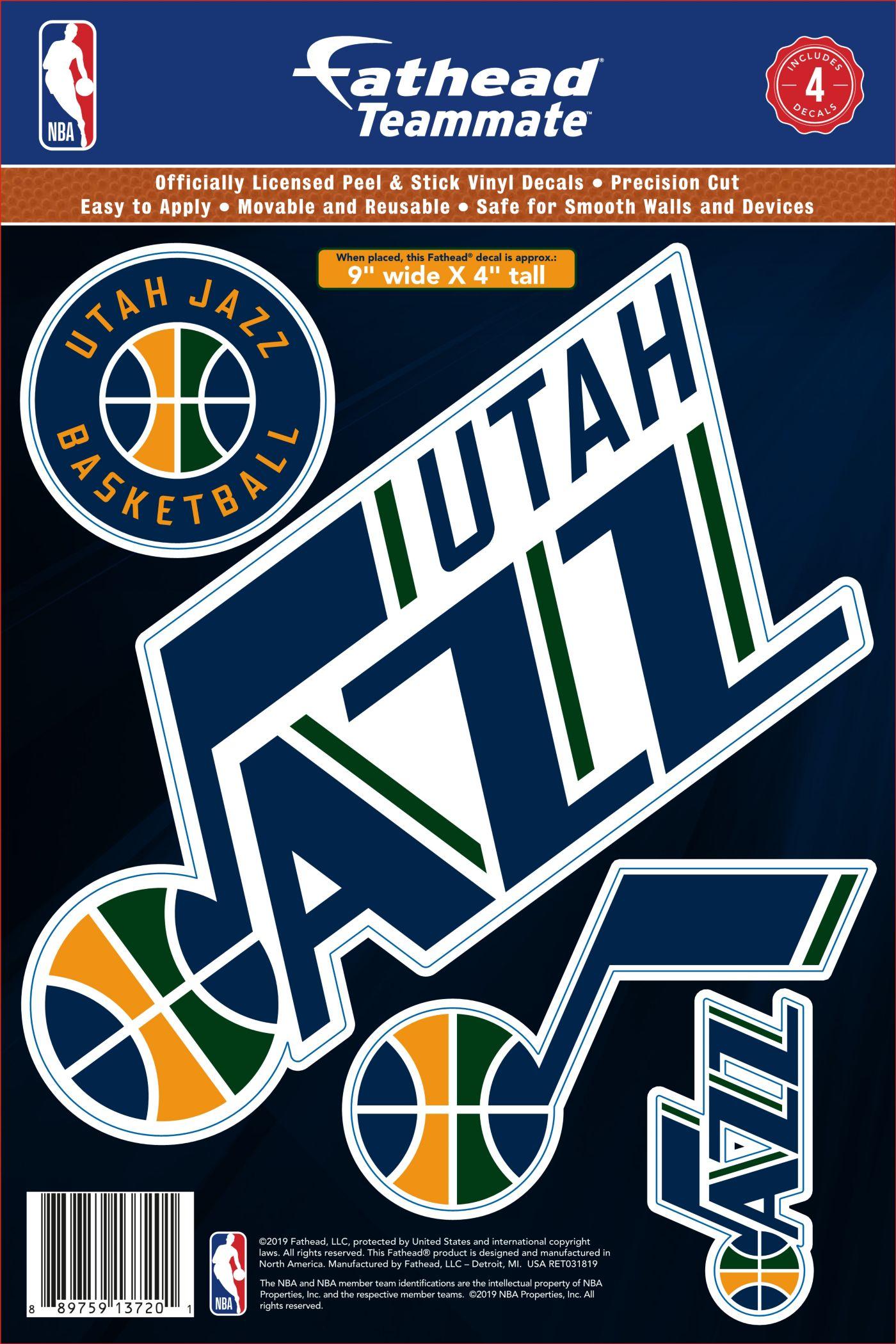 Fathead Utah Jazz Logo Wall Decal