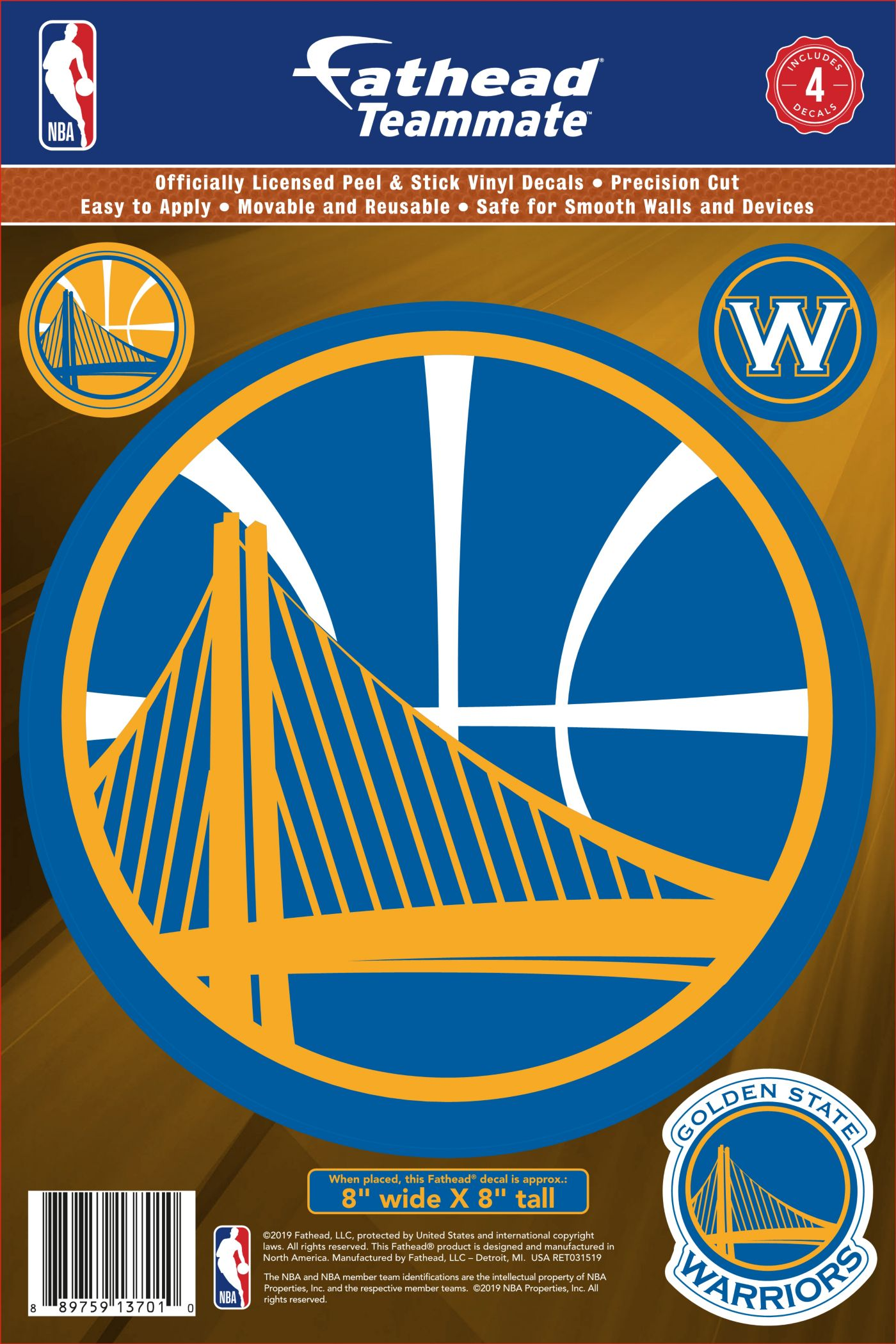 Fathead Golden State Warriors Logo Wall Decal