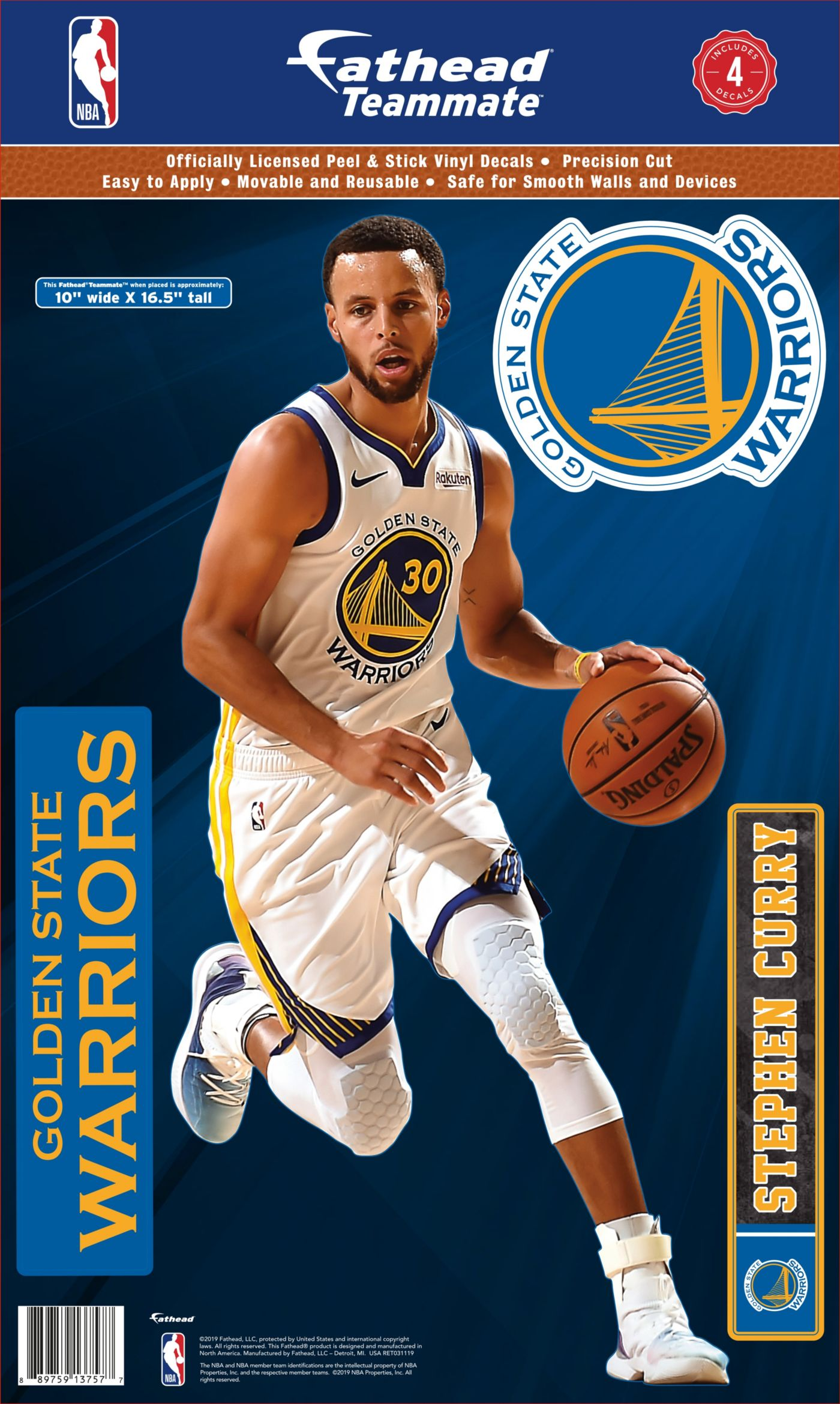 Fathead Golden State Warriors Stephen Curry Teammate Wall Decal