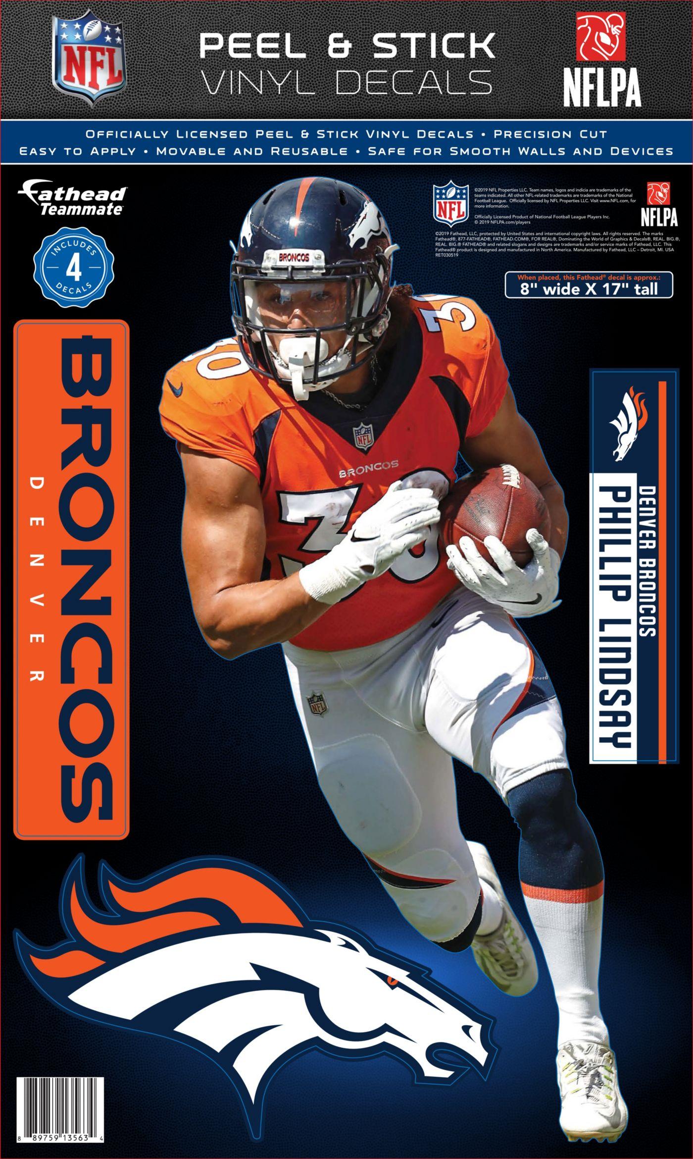 Fathead Denver Broncos Phillip Lindsay Teammate Wall Decal