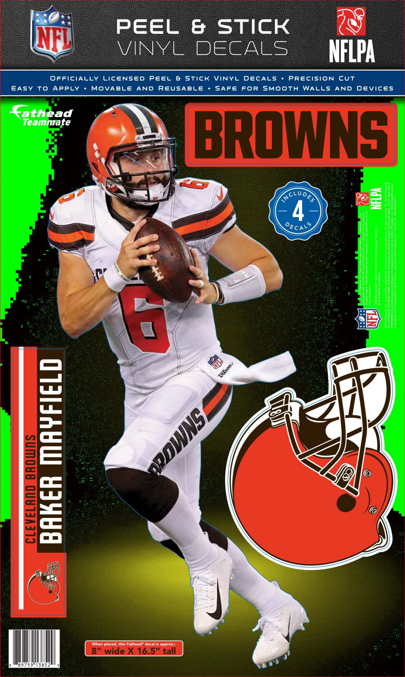 Fathead Cleveland Browns Baker Mayfield Teammate Wall Decal