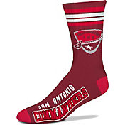 For Bare Feet Alliance of American Football San Antonio Commanders Four Stripe Crew Socks