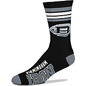 For Bare Feet Alliance of American Football Birmingham Iron Four Stripe Crew Socks