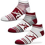 For Bare Feet Alabama Crimson Tide 3 Pack Socks
