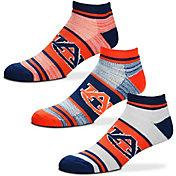 For Bare Feet Auburn Tigers 3 Pack Socks