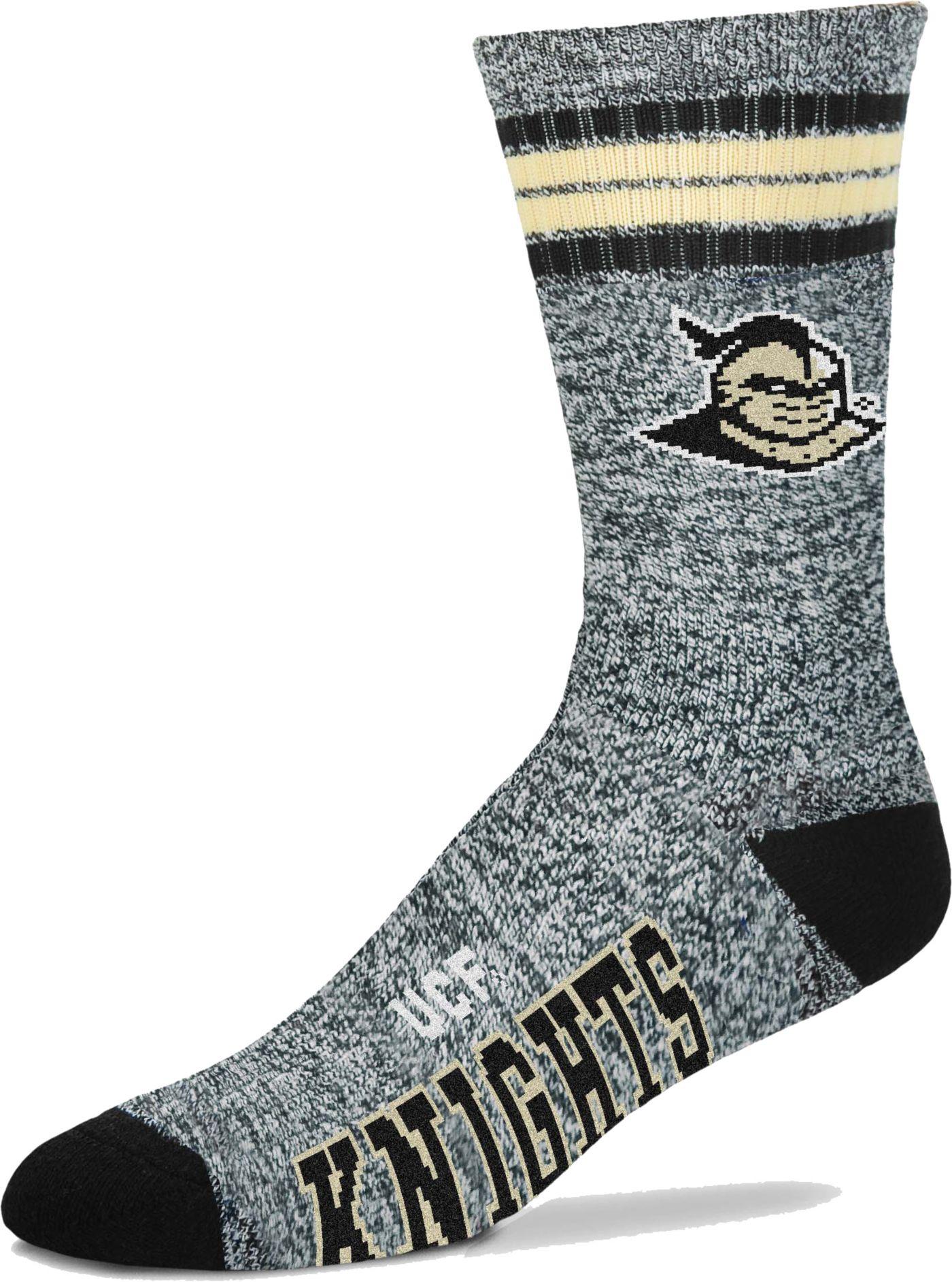 For Bare Feet UCF Knights Four Stripe Marbled Deuce Socks