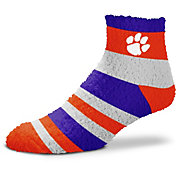 For Bare Feet Clemson Tigers Cozy Crew Socks