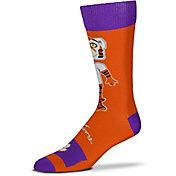 For Bare Feet Clemson Tigers Thin Crew Socks