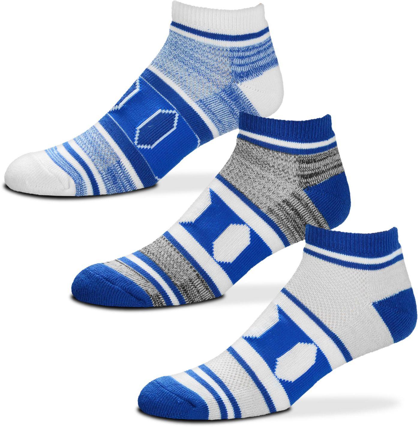 For Bare Feet Duke Blue Devils 3 Pack Socks