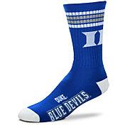 For Bare Feet Duke Blue Devils 4-Stripe Deuce Crew Socks
