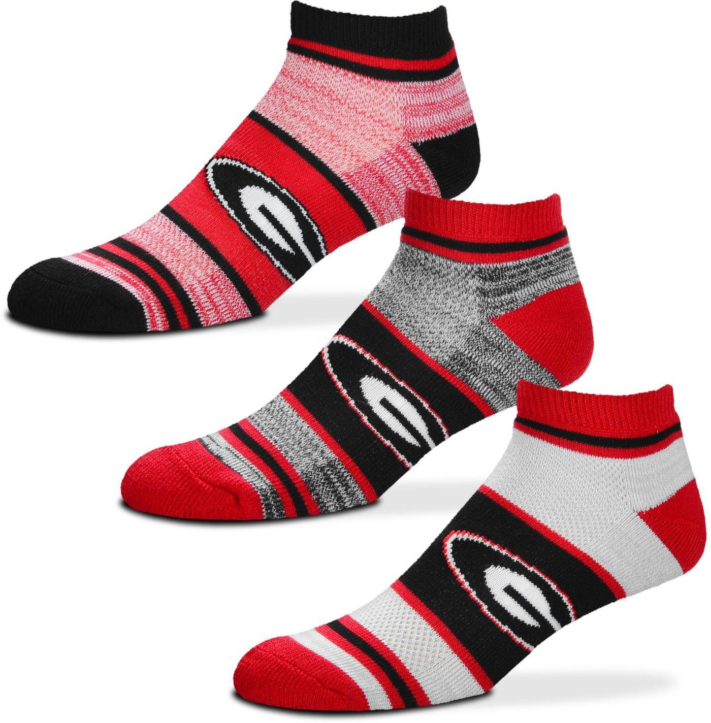 For Bare Feet Georgia Bulldogs 3 Pack Socks