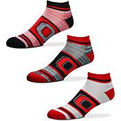 For Bare Feet Ohio State Buckeyes 3 Pack Socks