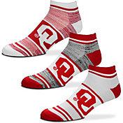 For Bare Feet Oklahoma Sooners 3 Pack Socks