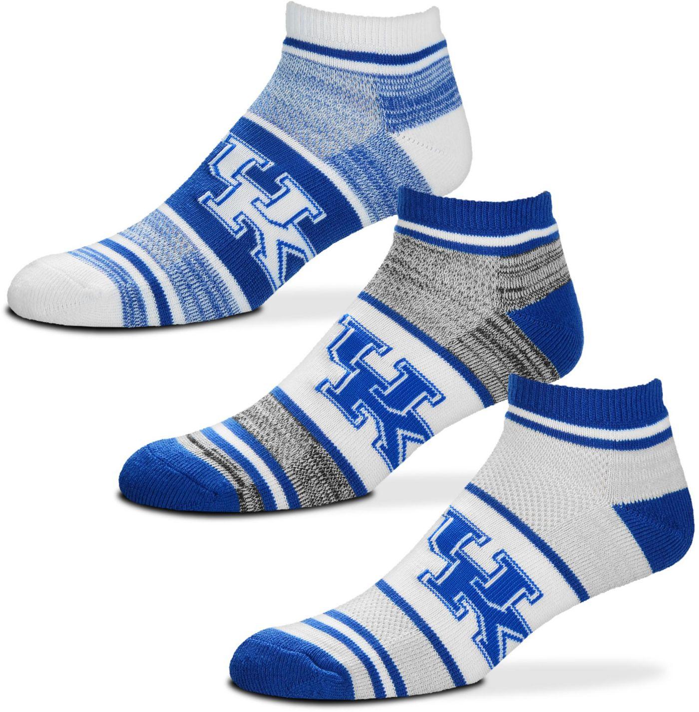 For Bare Feet Kentucky Wildcats 3 Pack Socks