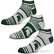 For Bare Feet Michigan State Spartans 3 Pack Socks