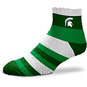 For Bare Feet Michigan State Spartans Cozy Crew Socks
