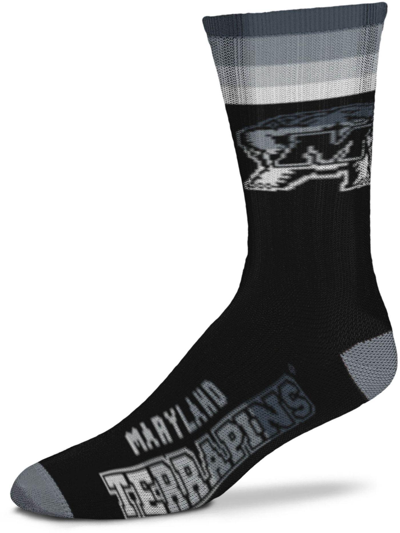 For Bare Feet Maryland Terrapins Platinum Crew Socks