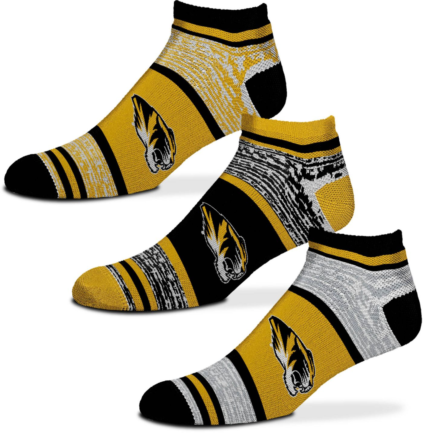 For Bare Feet Missouri Tigers 3 Pack Socks