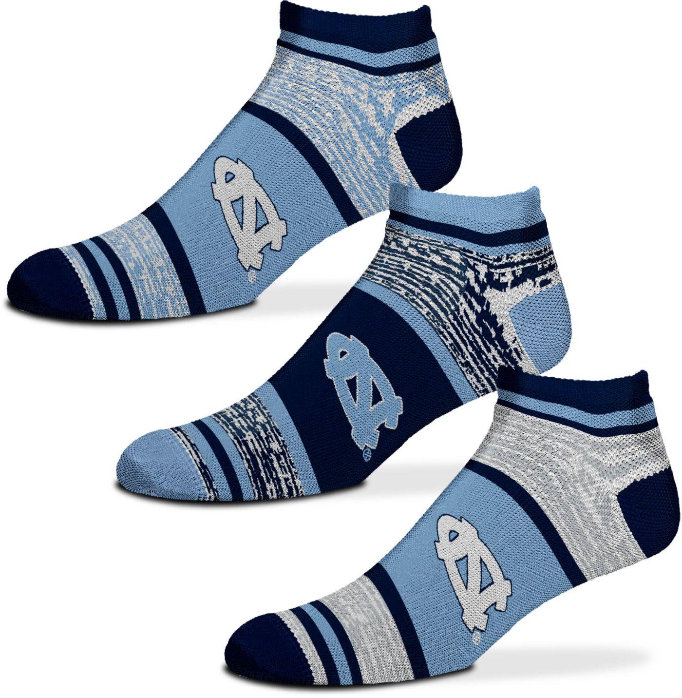 For Bare Feet North Carolina Tar Heels 3 Pack Socks