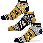 For Bare Feet Notre Dame Fighting Irish 3 Pack Socks